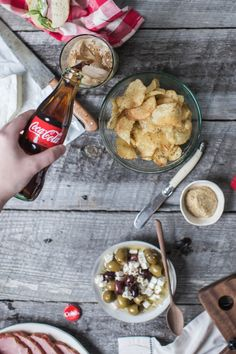 Summer Picnic with Coca-Cola Basted Ham Sandwiches