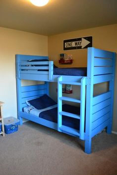 Side Street Bunk Beds (with modified ladder) | Do It Yourself Home Projects from Ana White
