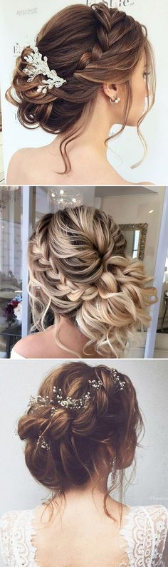 The most popular Loose Braid Updo Bridal Haistyles from Pinterest