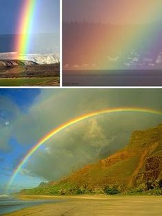 Natural rainbows are made up of 6 colors: red, orange, yellow, green, blue and violet. The intensity of each color may vary due to atmospheric conditions and the time of day