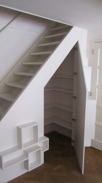 Storage under stairs Shoe Storage Under Stairs, Under Stairs Nook, Stairway Storage, Closet Under Stairs, Under Stairs Cupboard, Home Stairs Design, Home Room Design, House Design, House Staircase