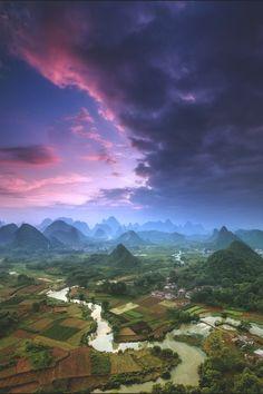 elvenlake:  Guangxi karst hills