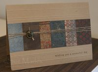 Masculine Card With Well Worn DSP - Sue Madex: Stampin Up Demonstrator Australia