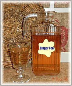 Homemade Ginger Tea ~ Fights Colds, Flu, Coughs & More  (One of my favorite health remedies)