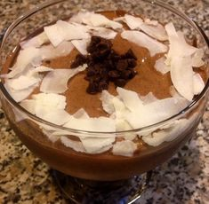 Ripped Recipes - Choco-Coco-Banana Mousse  - light and nutritous protein Mousse!!