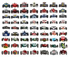 The world championship winning cars: from 1950 to 2012 Vintage Racing, Vintage Cars, Sport Cars, Race Cars, Motor Sport, Drones, Formula 1 Car, Indy Cars, F1 Racing