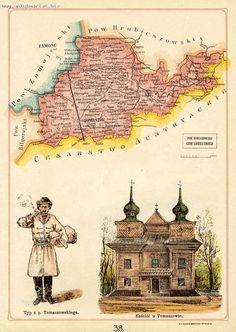Tomaszów Lubelski i powiat Polska / Poland Bazewicz 1907 Commonwealth, Coat Of Arms, Poland, Vintage World Maps, Coats, Ebay, Wraps, Family Crest, Federal