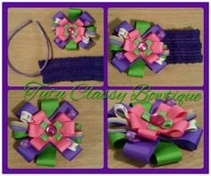 Bowtique Bow with Headband By Me Can be added to any headband.
