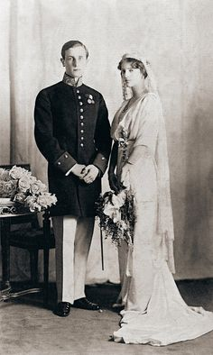 1914: Prince Felix Yusupov and his bride H.I.H. Princess Irina Alexandrovna of Russia.