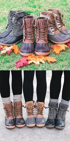 Monogrammed Duck Boots for Women from Marleylilly take the latest cool-weather trend to the next level with customizable embroidered initials. Whether you're leaf peeping on the trails or running errands, these duck boots keep your toes toasty and your look on point.