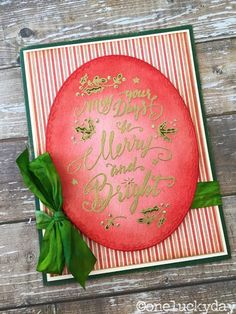 One Lucky Day: May Your Days Be Merry and Bright Card