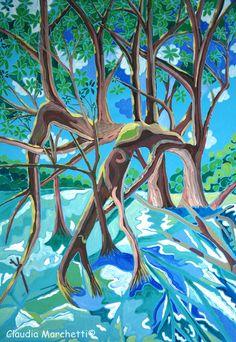 mangrove swamp blue green