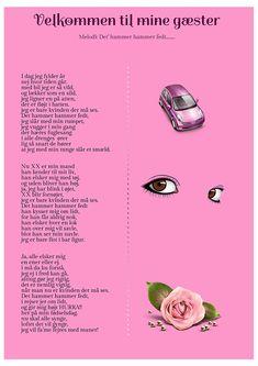 Kvinde der holder fest - Festsange med mere Party Games, Diy And Crafts, Singing, Anna, Parenting, Inspiration, Humor, Danish Language, Musik