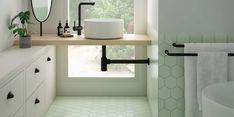 bathroom 2021 – Szukaj wGoogle Interior Stylist, Interior Design Studio, Beautiful Kitchens, Beautiful Homes, Best Bathroom Designs, Kitchens And Bedrooms, Natural Wood Finish, Kitchen Tile, Wet Rooms