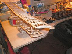 Balsa wood, scale model, rubber band flying, kit by Guillow's Mfg,