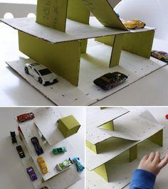 kinderpendent: cardboard parking deck ..tutorial
