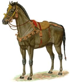 Kasakhstan late 4th - early 3rd century B.C.E.  Horse Tack as Shown on a Reconstruction of the Horse from Kurgan 36 at Berel.