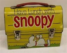 Snoopy Domed Metal Lunch box