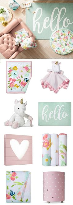 Keep your little sweetie soft and snug as they blossom and flourish with the Pink and Aqua Floral Fields Nursery Room Collection from Cloud Island #affiliate #target #nursery #baby #girl #bedding #homedecor