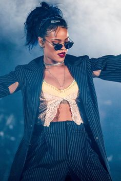 Rihanna performing at We Can Survive Concert in LA