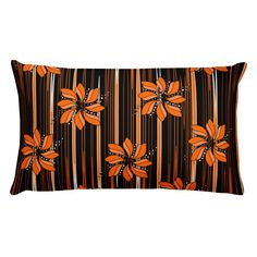 Flower in Orange by johannadesign Decor Pillows, Throw Pillows, Online Printing, Bedroom Decor, Cushions, Tapestry, Couch, Orange, Flower