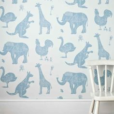 I so would have used this in a nursery. Even inside an armoire, if not a full wall. I love it. I like the kangaroo in with the African Animals.