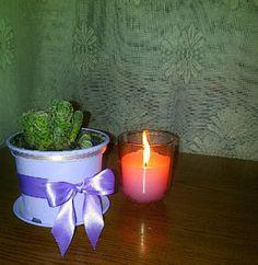 borzalmasból cuki... :) Planter Pots, Candle Holders, Candles, Blog, Diy, Bricolage, Porta Velas, Candy, Blogging
