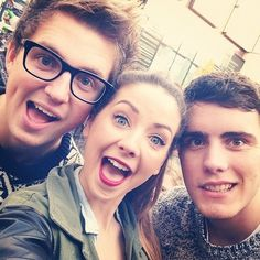 Marcus, Zoe, and Alfie. Three amazing youtubers plus joe but he is not in the pic