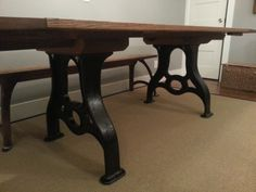 Industrial Antique Machine Base Table Handmade by Retrorehabs, $2500.00