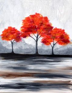 View Paint and Sip Artwork - Pinot's Palette Paint And Sip, Easy Paintings, Learn To Paint, Acrylic Art, Tree Art, Painting Inspiration, Painting & Drawing, Watercolor Paintings, Art Projects