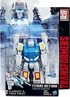 Hasbro Transformers: Titans Return Deluxe – Twin Twist & Flameout - Transformers, Titans Return