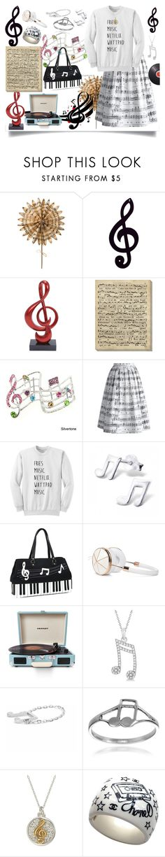 """""""Music is my Life"""" by jeneric2015 ❤ liked on Polyvore featuring Cultural Intrigue, Dot & Bo, Art Classics LTD, Chicwish, Frends, Crosley Radio & Furniture, Allurez, Journee Collection, Chanel and Joseph Joseph"""