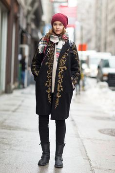 Perfectly mixed up layers #streetstyle #NYFW