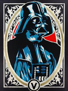 Stenciled Star Wars Darth Vader