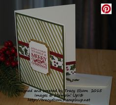 Christmas card created using the retiring Season of Cheer Designer Series Paper (DSP) and Cozy Christmas Stamp Set from Stampin' Up!  http://tracyelsom.stampinup.net