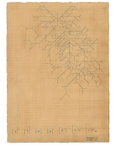 Owen Schuh, Dendrite, 2011, Graphite and Tea on Paper, 18 x 28 cm