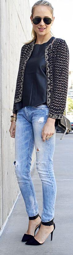 Black Embellished Jacket