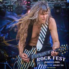 what a great afternoon for #gravedigger at the #rockfest2016 in #barcelona. Ole .... ole ole ole ...diggeee .. digger :-) #axelritt #the_real_ironfinger #hughesandkettner #framusguitars #rootsofcompassion #emgpickups #cordialcables #koenigundmeyer #digitech #flaxwoodguitars #digitech #caerstraps #loxx #peavey #gravitystands #ineargermany #domain #monstergroove #spl #monocreators