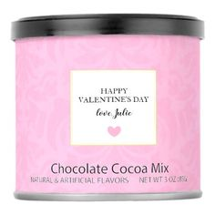 #pink - #Hot Chocolate - Happy Valentine's Day Love Damask Hot Chocolate Drink Mix