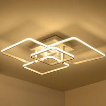 ff4972845 Control remoto montado en superficie de techo llevada moderna luces de la  sala de estar lámpara