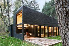 Forest Retreat in Seattle Built Around Gravel Courtyard