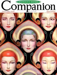 design-is-fine:  Wladyslaw Theodor Benda, cover illustration for Woman's Home Companion, 1936. Source