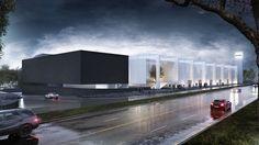 Centro de convenciones CECONEXPO, Morelia, México  Render de arquitectura, architecture, convention center  Render by Noxx studio