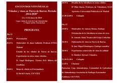 Jornadas Vitivinícolas Tierra de Barros, 12 y 13 de mayo 2014 #formación #cultura #Badajoz #Extremadura #vino
