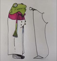 Cool Art Drawings, Art Drawings Sketches, Arte Indie, Frog Drawing, Frog Art, Funky Art, Hippie Art, Art Sketchbook, Aesthetic Art