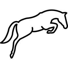 jumping-horse-outline_318-49226.jpg (626×626)