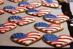 decorated flag cookies