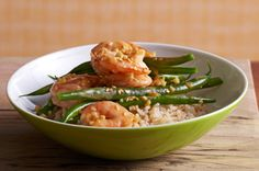Sesame-Ginger Shrimp and Beans - Diabetes Food Choices: 2 Carbohydrates + 2-1/2 Meat & Alternatives + 1 Fats