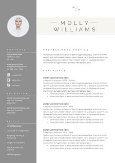 Resume Template 4 page CV Template Cover Letter for MS Resume Layout, Resume Tips, Resume Cv, Resume Examples, Cover Letter Template, Cv Template, Letter Templates, Resume Templates, Microsoft Word