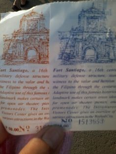 Wow Tickets!! #Intramuros Intramuros, Filipino, Event Ticket, Personalized Items, How To Make, Santiago